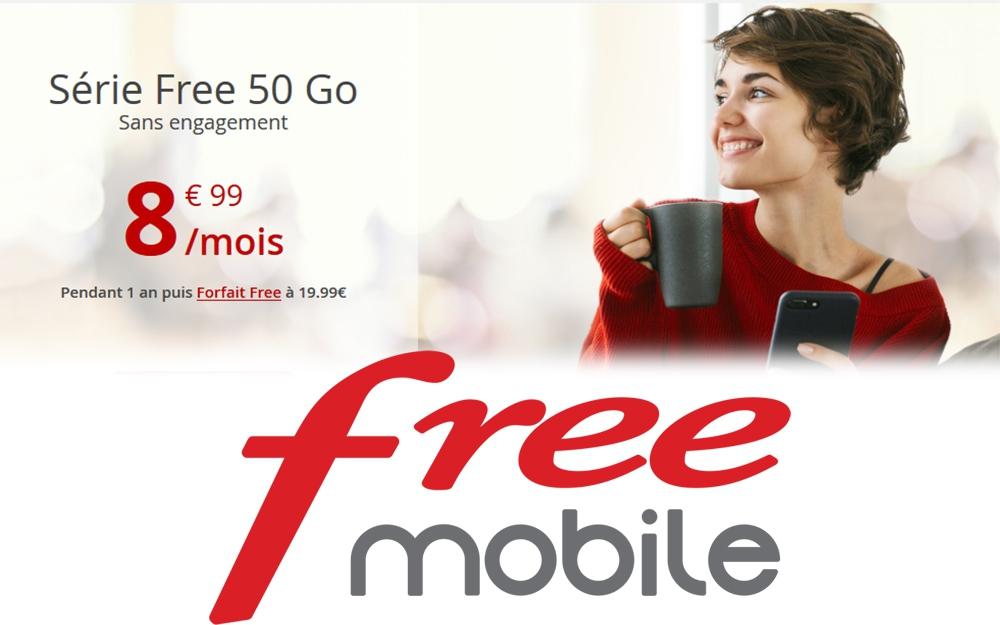 Free mobile : profitez du forfait 50 Go à 8,99€