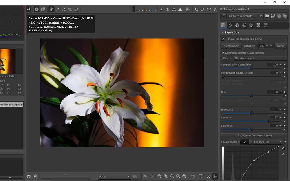 Vos premiers pas avec le logiciel de traitement d'images RawTherapee