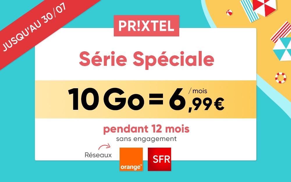 Forfait mobile : Série Spéciale Prixtel à 6€99