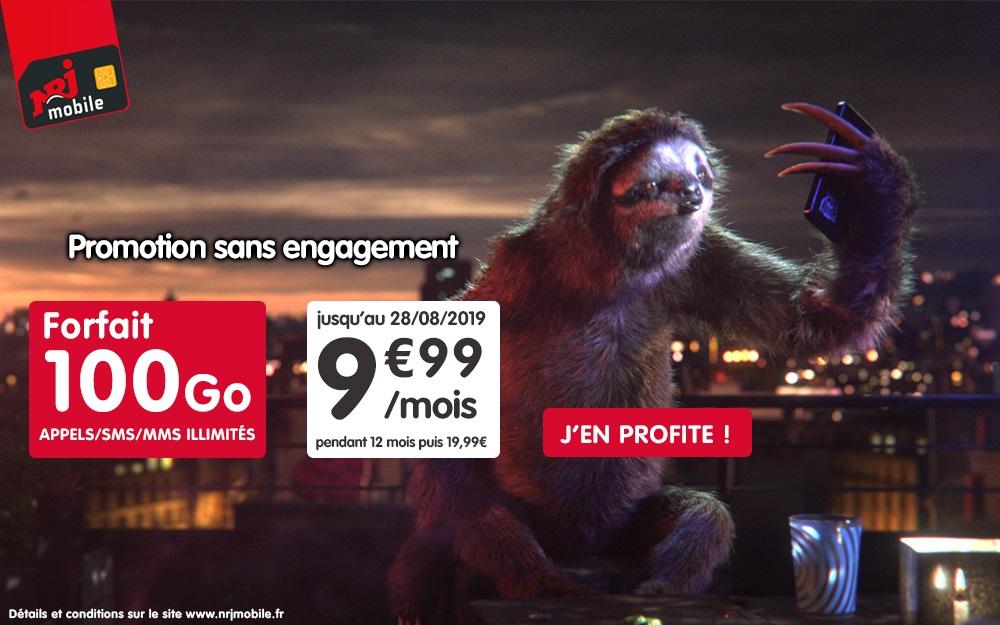 Forfait mobile : offre 100 Go à petits prix chez NRJ Mobile