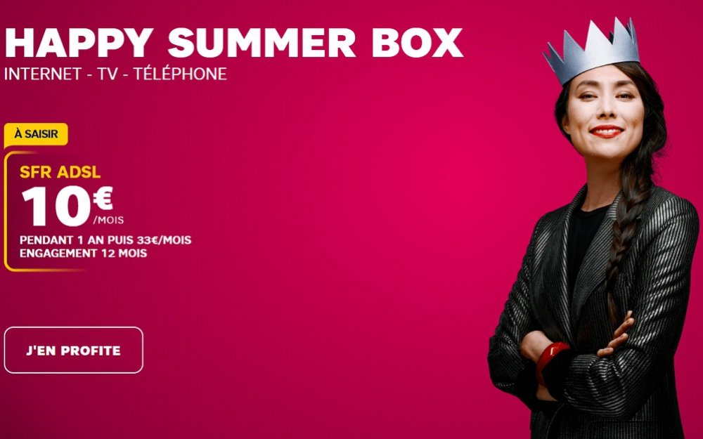Box Internet : SFR prolonge son offre Happy Summer Box