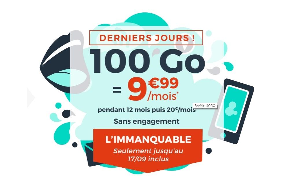 Forfait mobile : 100 Go à 9€99 chez Cdiscount Mobile