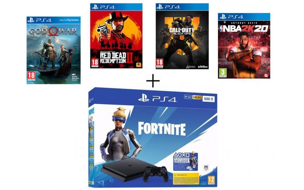PS4 avec 5 jeux pour moins de 300 euros chez Cdiscount (offre limitée)