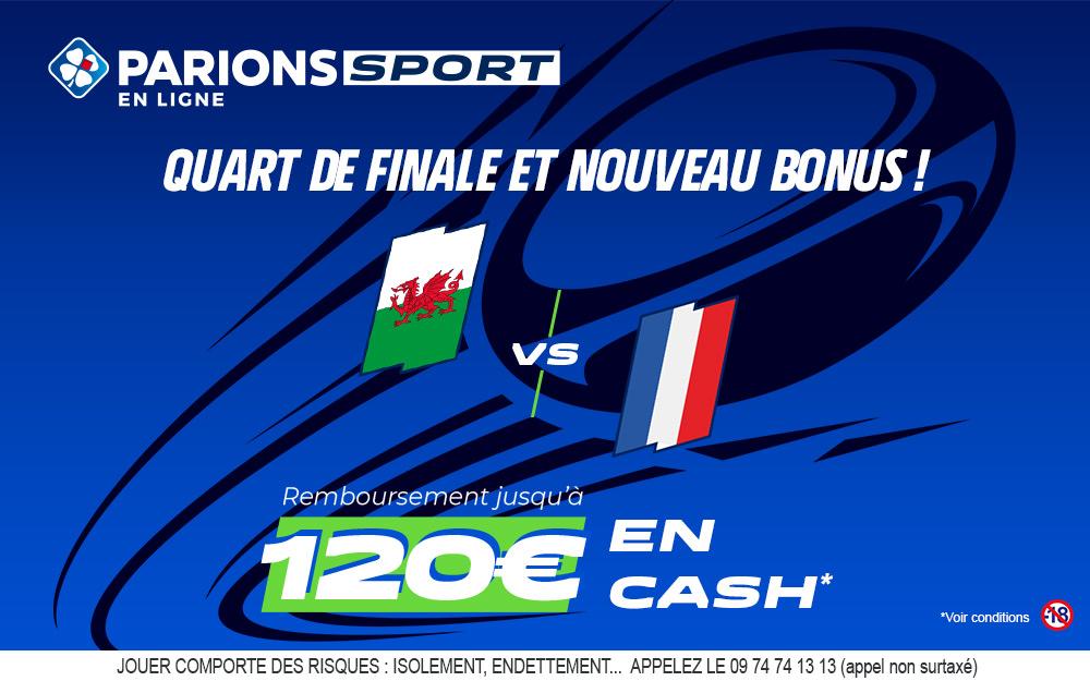 Pays de Galles – France :120€ sur Parions Sport