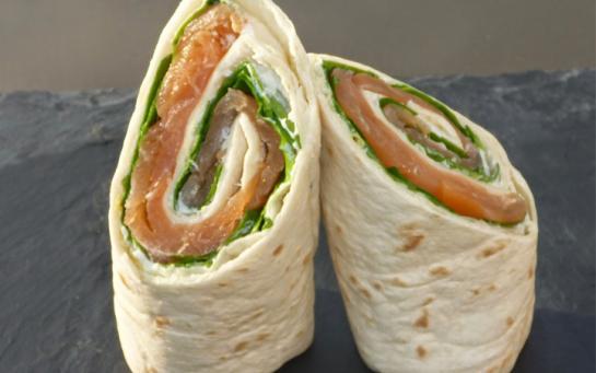 Recette  Wrap saumon
