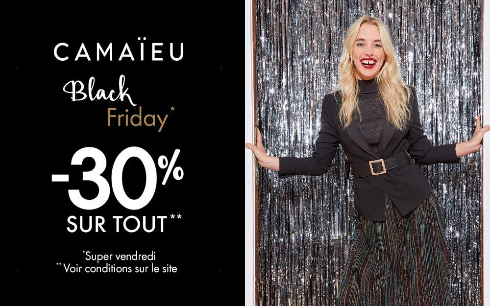 Black Friday Camaïeu : 30% sur tout le site Le Parisien